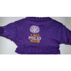 Bear - Purple Sweater ONLY for 8-10 inch